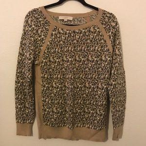 LOFT animal print crewneck sweater